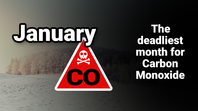 January is the deadliest month for Carbon Monoxide